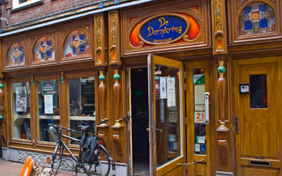 The legendary Coffeeshop Dampkring in Amsterdam Holland