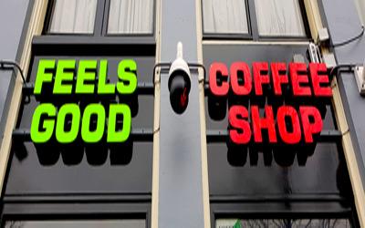 Coffeeshop Feels Good in Amsterdam Holland