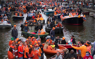 King's Day celebrations in Amsterdam Holland