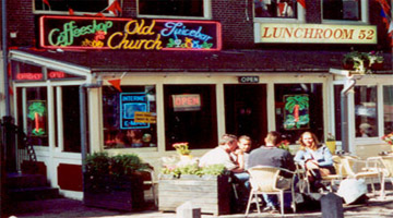 Old Church Coffeeshop in Amsterdam